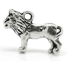 Lion Charm - Small 3D - Antique Silver - Game of thrones (Qty x 4)