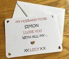 Husband To Be Wedding Day Card,Wife To Be Wedding Card,personalised gift Keycard