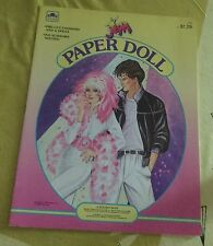 Rare Vintage Jem Paper Doll 1986 Hasbro Golden Book Unused