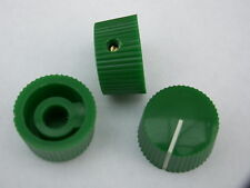 3 Green 20mm potentiometer knobs guitar amplifier radio pot knob + screw