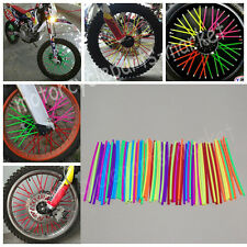 72Pcs Motorcycle Wheel Rim Spoke Skins Covers Wrap Tubes Protector Decor Kit
