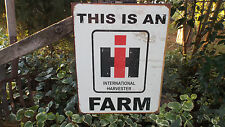 Vintage Signs International Farmall Tractors Farm Barn Advertising Tin Sign