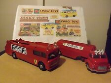 Corgi 1126 Ecurie Ecosse Car Transporter and 1141 tanker code3 great items