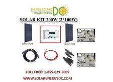 Solar Panel KIT Panneau Solaire 200W 200 Watt (2 * 100 W) Poly 12V RV Z brackets