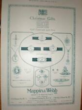 Mappin & Webb Christmas Gifts watches advert 1918