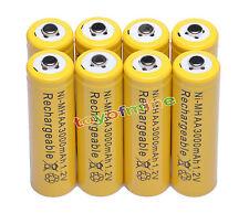 8x AA 2A 3000mAh pile 1,2 V Ni-MH rechargeable jaune couleur de MP3 Jouets RC