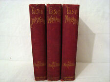 OLD ANTIQUE BOOKS BY MARTHA FINLEY THE ELSIE BOOKS LOT OF THREE