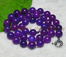 PURPLE 10MM AFRICA SUGILITE GEMS ROUND BEADS  Gemstones Necklaces 18""