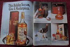 1980 Print Ad WILD TURKEY Bourbon Whiskey ~ Holiday Season Give a Masterpiece