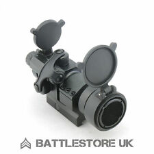 M2 Red Dot Spettacolo CON KILLFLASH! NERO AIRSOFT 20mm Tactical Campo (552 ALT) UK