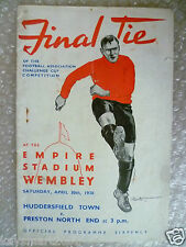 1938 FA Cup Final-Huddersfield Town V Preston North End, jugado en 30 de abril