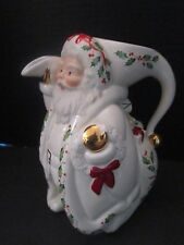 Lenox Holiday Dimension Holly Berry Christmas Santa Pitcher in Box Porcelain