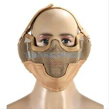 Half Face Metal Mesh Ears Protective Tactical Airsoft Military Mask Protector