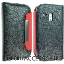 SAMSUNG GALAXY S3 i8190 MINI LEATHER WALLET STYLE FLIP COVER CASE NICE DESIGN