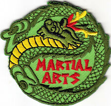 """""""MARTIAL ARTS"""" - Iron On Embroidered Applique Patch, Sports,Games, Defense"""