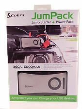 Cobra Jumpack CPP-8000 Vehicle Jump Starter Car+ Mobile Battery Charger, New