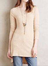 NWT $68.00 Anthropologie Ribbed V-Neck Tunic by Deletta Sz. Small