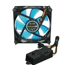 VENTOLA CASE PC 92mm GELID WING 9 BLU FAN 90x90x25 UV REACTIVE + REGOLATORE RPM