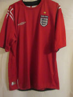 Away England 2004-2006 World cup germany Football Shirt Size Large /7747