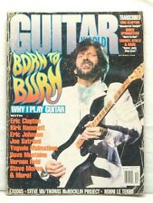 GUITAR WORLD MAGAZINE ERIC CLAPTON JOHNSON JOE SATRIANI DAVE MUSTAINE 1992