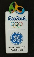 2016 General Electric Olympic Pin Badge~GE~with Rio 3D logo~Summer Games Sponsor