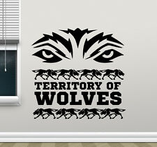 Territory Of Wolves Wall Decal Wolf Eyes Vinyl Sticker Art Decor Mural 218xxx
