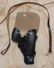 Genuine Russian PM Makarov Pistol HOLSTER & SAFETY LANYARD Black Genuine Leather