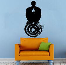 Captain America Wall Decal Vinyl Sticker Comics Superhero Art Home Decor (11c8a)