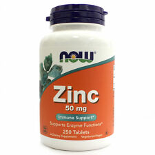 NOW Foods ZINC 50 mg - 250 tablets - IMMUNE SUPPORT