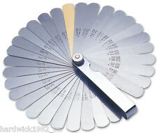 Laser 2481 32 Blade Feeler Gauge Set Imperial Metric Includes Brass Blade