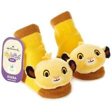 Disney SIMBA LION KING itty bittys® Baby Rattle Socks Shoes Hallmark Gift 0-12