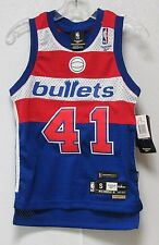 NWT NBA REEBOK SWINGMAN JERSEY - WES UNSELD WASHINGTON BULLETS BLUE YOUTH SMALL