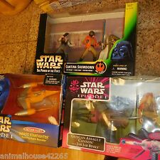 3 BOX LOT Star Wars Action Fleet Naboo Starfighter Anakin Skywalker & Cantina +
