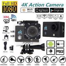 """4K Ultra SJ9000 Wifi Sport Action Camera 2.0"""" DV 1080P HD DVR Cam Waterproof 30m"""