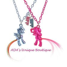 My Little Pony Best Friends Pendant Necklaces Set 2 BFF Twilight Pinkie Pie NWT