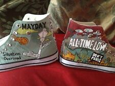 ALL TIME LOW HAND PAINTED HIGH TOPS VARIOUS DESIGNS OR CUSTOMISED TO ORDER