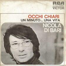 NICOLA DI BARI-OCCHI CHIARI + UN MINUTO...UNA VITA SINGLE VINILO 1973 SPAIN