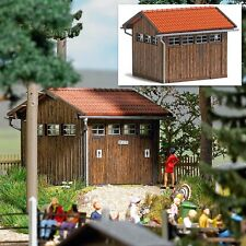 HO Busch 1586 Wood Outdoor Toilet / Restroom KIT for Park / Forest Diorama