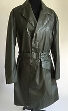 NEW PRADA TRENCH RAIN GRAY POLYAMIDE JACKET COAT  W BELT 38 IT M