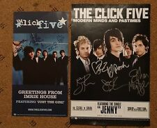 THE CLICK FIVE ALBUM SIGNED 11X17 AND 8X15 PROMO POSTERS AUTOGRAPH ERIC DILL