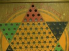 Primitive Antique Vtg Chinese Star Checkers Game Board