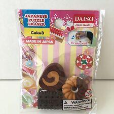 JAPANESE DAISO Fun Eraser Fake Food Desert Donut, Biscuit, Cake Made in Japan