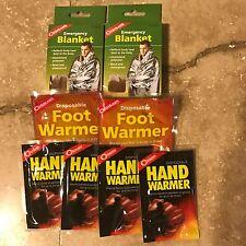 Coghlan's Emergency Survival Kit Blanket Foot Warmers Hand Warmers