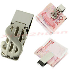 New Stainless Steel Dollar Design Cash Bills Credit Card Holder Slim Money Clip