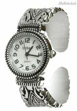 Urban / JAS Silver Plated Ladies Bracelet Bangle Metal Watch Antique Marcasite