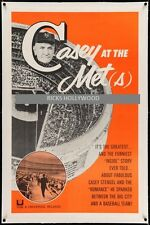 Original CASEY STENGEL AT THE METS Linen Backed MOVIE THEATRE 1 Sheet