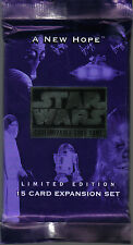 STAR WARS CCG A NEW HOPE BLACK BORDER SEALED BOOSTER PACK OF 15 CARDS