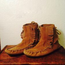 J. Crew Sienna Fringed Moccasin Booties, Size 9