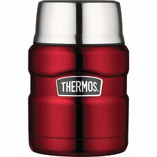 THERMOS Stainless King 16 Ounce Food Jar with Folding Spoon, Cranberry NEW CXX