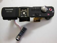 GENUINE PANASONIC DMC- GF2 POWER SHUTTER WITH FLASH FOR PART/REPAIR